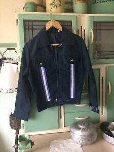 "Original vintage Rockabilly / swing "" Dolermo "" jacket ,navy blue nylon."
