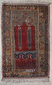 Antique rug/carpet Turkoman Turkish Tribal Oriental Ladik 1950