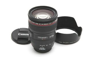 Very Clean Canon EF 24-105mm f4 L IS USM Lens with Hood #33164
