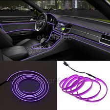2M Purple LED EL Wire 12V Car Interior Lamp Decor Neon Strip Cold light Panel