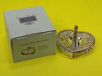 NEW ANTIQUE Silver-plated Heart Shaped Ornate Ring Holder by Heritage Mint Ltd