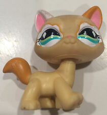 Littlest Pet Shop Yellow Orange Glitter Sparkle Cat Green Diamond Eyes #626 LPS