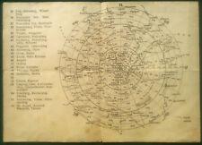 Luftschutz-Übersichtskarte von Wien im 2. Weltkrieg mit Sektoren u. Warnsignalen