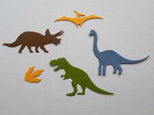 Dinosaur Paper Die Cuts x 4 Sets Scrapbooking Card Topper Embellishment