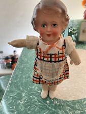Antique Paper Mache Head Cloth Body Doll