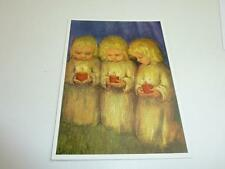 "vintage blank 70` greeting cards  Spötl""angel while praying  ""1311"""