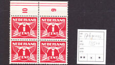 Plaatfout 170b P1 en PM3  postfris in blok van 4 Cataloguswaarde 185,00