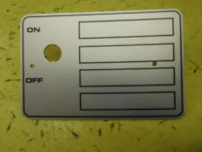 Hobart Mixer -A200-A120 blank Switch plate & screws