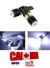 2X T10 194 168 White 5W 5050 4SMD Cree Lens Projector COB LED Car Light Bulb