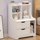2+Drawers+Nightstand+End+Side+Table+Storage+Nightstand+Furniture+w%2FDrawer%2BBottom