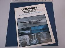 VINTAGE 1970's DUMAS R/C BOAT CATALOG W/EXTRAS  PT-109  MISS UNLIMITED *VG-COND*