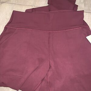 """NWT Auth lululemon womens align jogger 28"""" in Red Merlot Size 8. In Wrapper"""