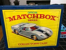 Lot of 38 Vintage Matchbox Toy Cars W/ Official Series Collector's Case ((LOOK))