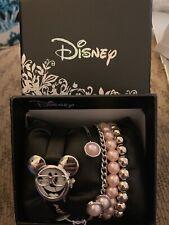 Disney Women's Mickey Mouse Watch Bowtie Glasses With Bracelets Set New