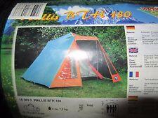 Hauszelt Wehncke Wallis BTH 180, mit Doppeldach, Firstzelt, Campingzelt
