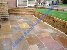 Raj Green blend 20.7m2 Indian Stone Paving Natural Sandstone Mixed garden patio
