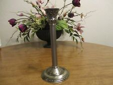 PARTYLITE CLASSIC CREATIONS SATIN SILVER PILLAR CANDLE HOLDER 11 IN.