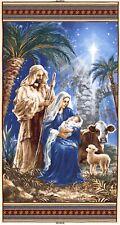"23"" Fabric Panel - Timeless Treasures Christmas Religious Nativity Scene"
