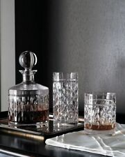 RALPH LAUREN Set of 4 Aston Double Old Fasioned  24% Lead Crystal Glasses NWT