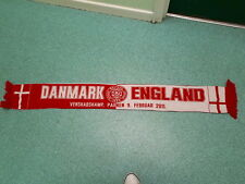Danmark V England Football Supporters Scarf
