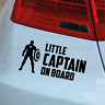 LITTLE CAPTAIN ON BOARD - Car Window Bumper Vinyl Decal Sticker, Captain America