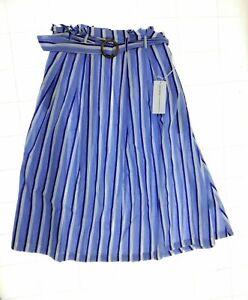 Live 4 Truth Womens Blue Stripe Mid Length A Line Skirt Size Medium