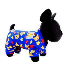 Printed Warm Dog Pajamas for Small Medium Pet Clothes Cat Shirt Jumpsuit Pants
