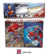 2x Enfants SUPERMAN BLOC NOTE PAQUET Cotillons Remplissage Anniversaire
