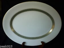 Wedgwood Argyll Large Green Gold Serving Platter 15""