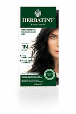 Herbatint 1n Black Permanent Herbal Hair Colour GEL 150ml