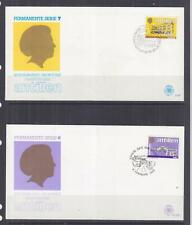 NETHERLANDS ANTILLES,1983 Buildings definitive set of 20 on 10 First Day covers.