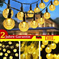 50LED Solar Kugel Lichterkette Garten Außen Beleuchtung Lampe Party Licht 9m DHL