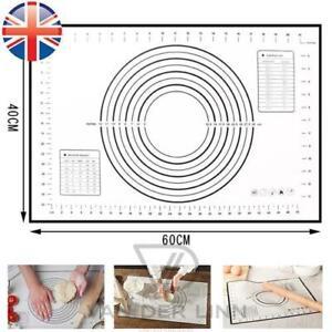 *UK Seller* Large Silicone Fibreglass Baking Rolling Mat Non Stick Cake 60X40cm