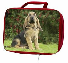 More details for bloodhound dog insulated red school lunch box/picnic bag, ad-bl1lbr