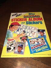 1981 Topps Sticker Album Store Window Poster Baseball