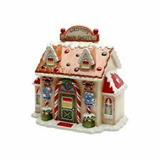 Tabletop Santa's Village Candy Jar Christmas Gingerbread 10931