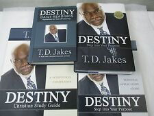 Destiny Daily Readings Application Guide Study Guide T. D. Jakes Lot 4 Books