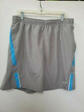 Nike Dri-Fit Running Shorts Men's Size L Pre-owned Grey/Blue