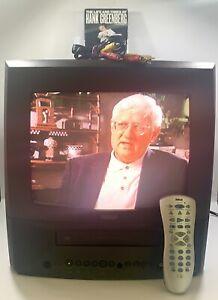 "RCA 13"" CRT TV VCR VHS Combo T13082 Retro Gaming W/Remote-AV Cord-VHS Tested EUC"