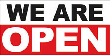 We Are Open Vinyl Banner Sign wrb - Multi Sizes