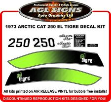 1973 ARCTIC CAT EL TIGRE 250 Reproduction Decal Kit  340 also graphic  stickers