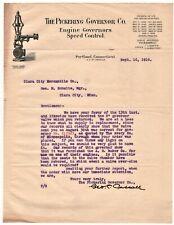 1910 PORTLAND CONNECTICUT LETTERHEAD PICKERING GOVERNOR CO