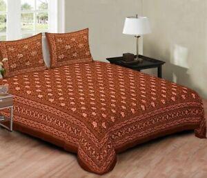 Bedding Set Bedsheet Pillow Cover Floral Print King Size Bed Set 100%Pure Cotton