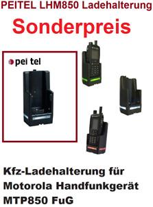 PEITEL LHM850 Ladehalterung für Motorola MTP850  MTP830S Ladegerät KFZ FuG Tetra