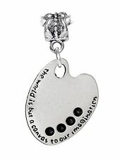 Artist Paint Palette Painter Art Student Gift Dangle Charm for European Bracelet