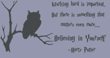 Wall Stickers Harry Potter owl believing in yourself vinyl decal decor Nursery