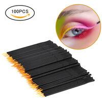 100pcs Disposable Lip Brush Gloss Eyeliner Wands Applicator Makeup Cosmetic Tool