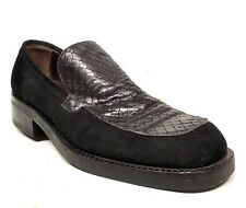 Sz. 8  GIANNI VERSACE Black Loafers Made In ITALY