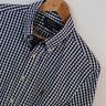 Mens Polo Ralph Lauren Blue Gingham Slim Fit Long Sleeve Shirt Size L Large
