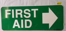First Aid Safety Sign Directional Right Colorbond Steel Metal 450x180mm (PSSC2)